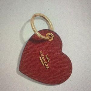 COACH - HEART KEYCHAIN / KEYFOB (NWT)